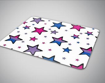 Bisexual pride flag in Stars mouse pad