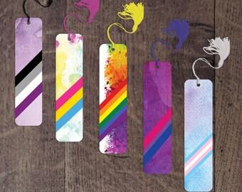 Pride flag bookmarks