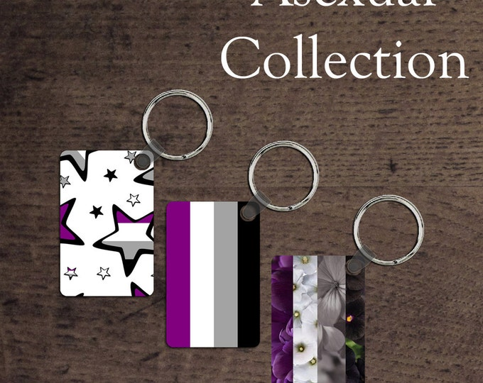 Asexual Pride flag key chains