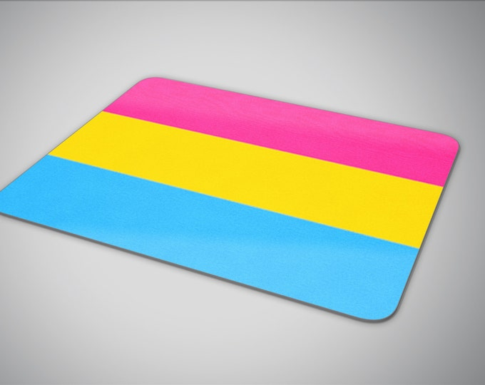 Pansexual Pride flag mouse pad