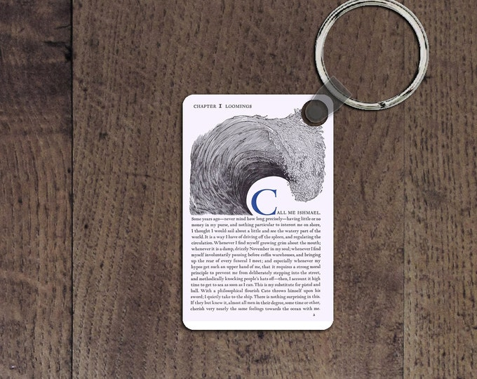 Moby dick key chain