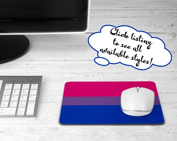 Bisexual pride flag mouse pad