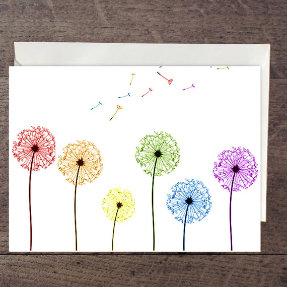 LGBT Dandelion greeting card