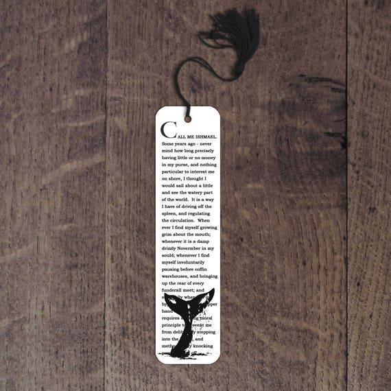 Moby Dick aluminum bookmark