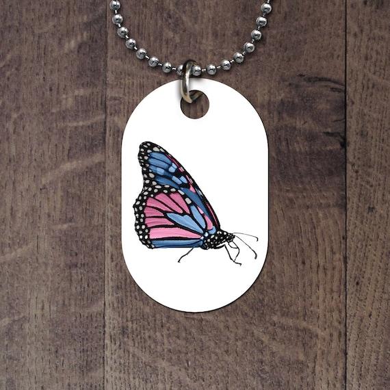 Transgender Butterfly Dog Tag
