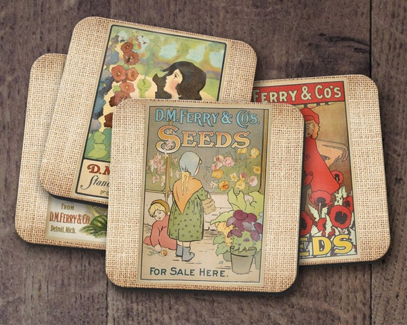 DM Ferry Seeds Coaster Set
