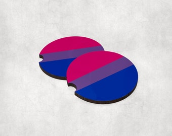 Car coasters (set of 2) - Bisexual Collection 2