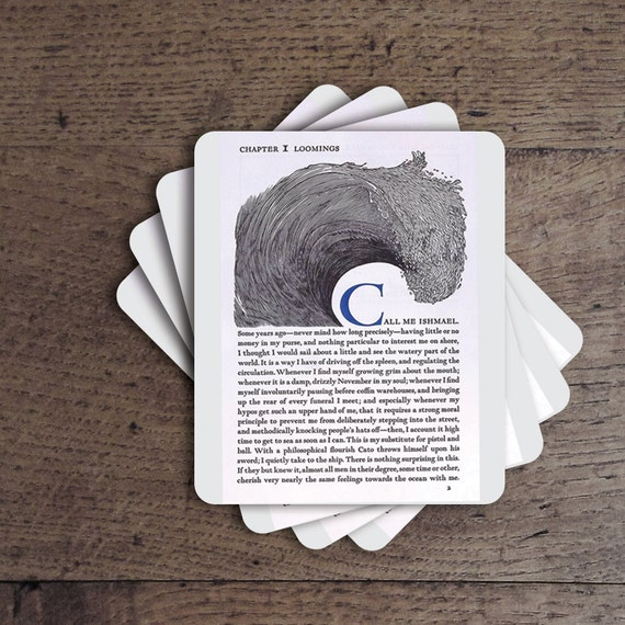 Moby Dick Coaster Set