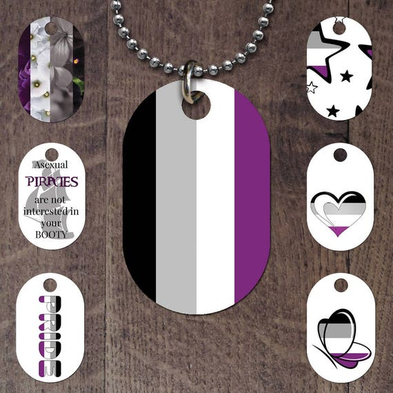 Asexual Flag Dog Tag