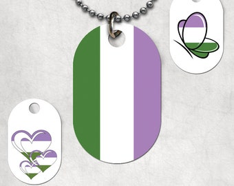 Genderqueer Dog Tags