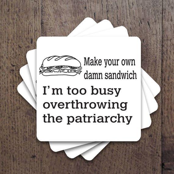 Patriarchy Coaster Set