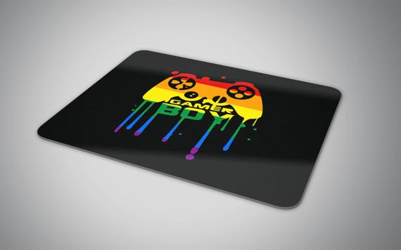 Gamer Boy mouse pad with the LGBT flag