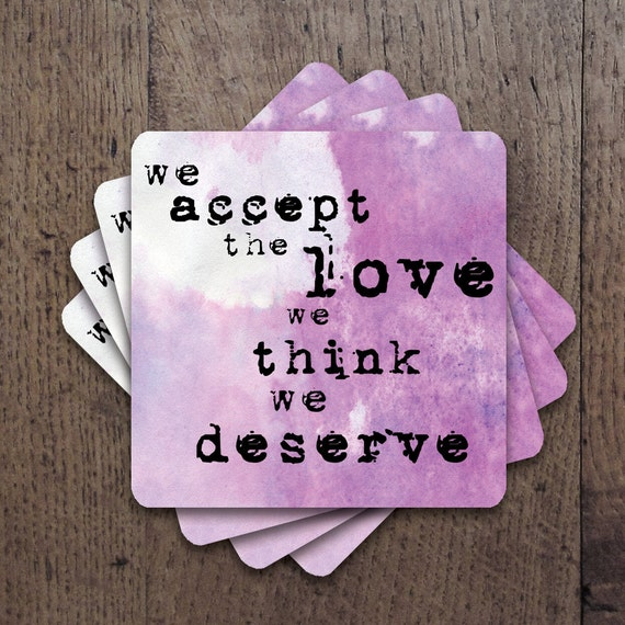 We accept the love Coaster Set