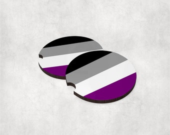 Car coasters (set of 2) - Asexual