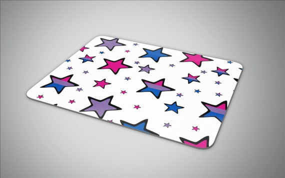 Bisexual pride flag in Stars mouse pad