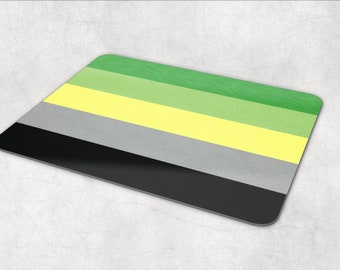 Aromantic Pride Flag mouse pad