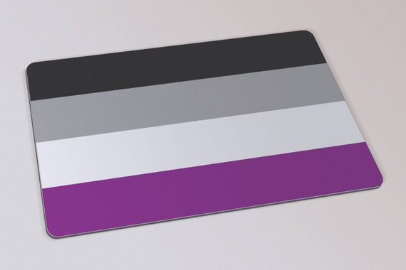 Asexual pride mouse pad