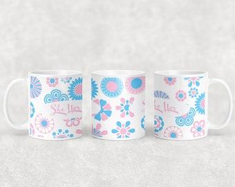 Transgender pronoun mug with or without coaster