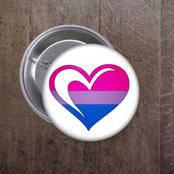 Bisexual heart button