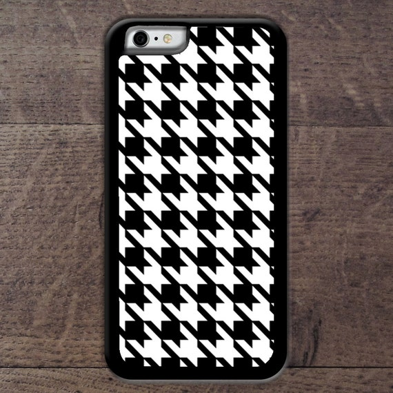 Black & White Houndstooth  phone case