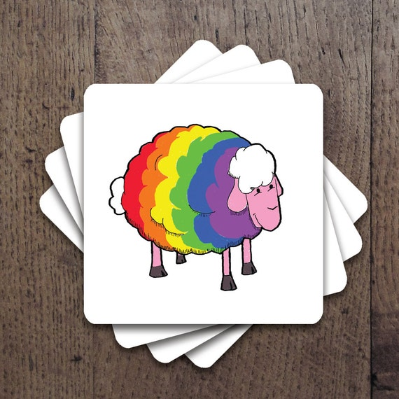 LGBT rainbow flag colors in flowers Coaster Set