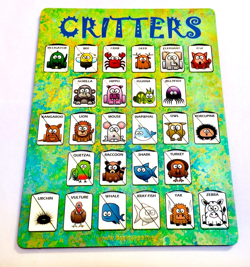 A-Z Animals Alphabet Matching Games  Critters image 0