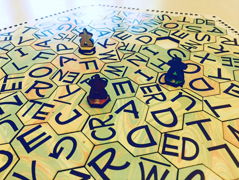 Word Travellers  Hexagonal Word Search Spelling Game Word Worm Expedited