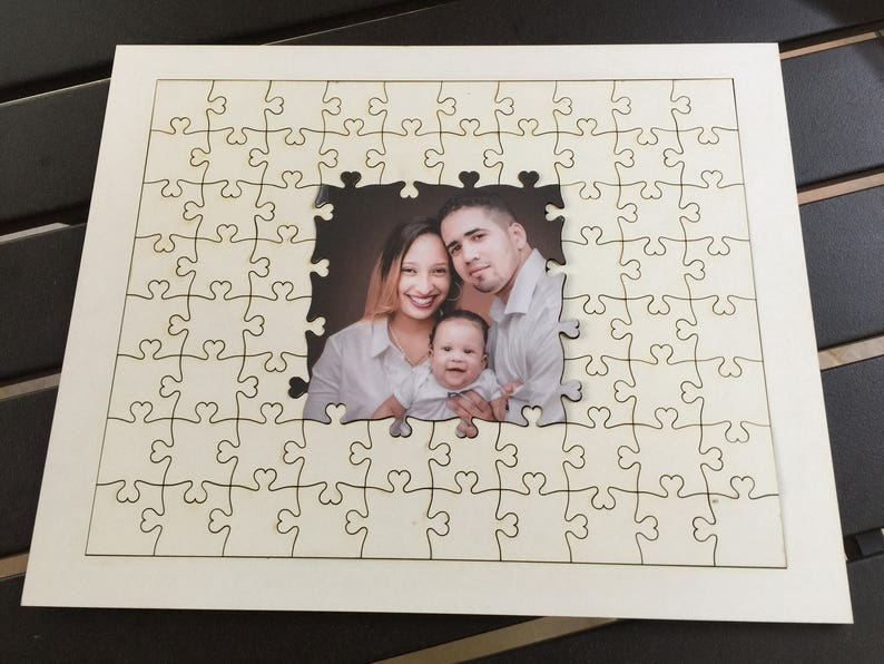 Unique Guest Book Puzzle from Your Photo  Alternative Wedding image 0