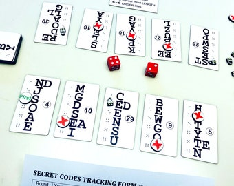 Cryptic Words Two-Player Board Game