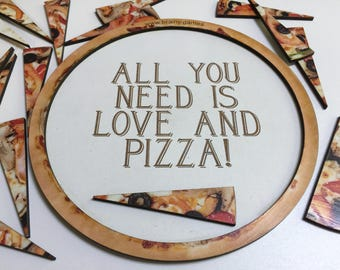 Pizza and Round Puzzles | Customizable | For All Ages 10-36 Wedge-Shaped Pieces