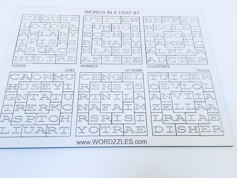 Wordzzles  Word Puzzles in a Tray  Literacy Challenges  image 0
