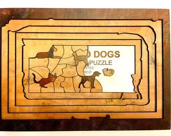 Cats and Dogs Five Layer Puzzle