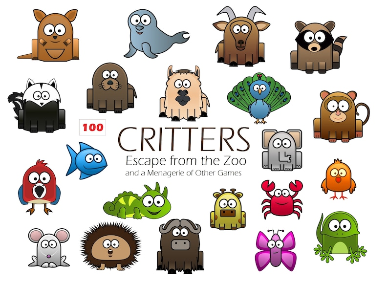 Critters Animal Card Game  Escape from the Zoo  Educational image 0