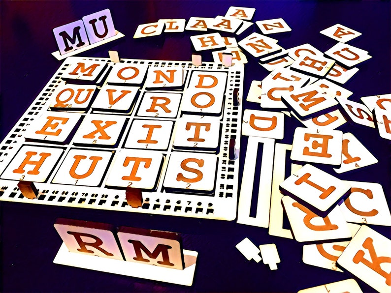 Four To Score  Four-Letter Words Family Word Game  Improve Game with Score Trk