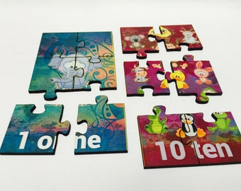 Kids Numbers 1-10 Animal Puzzle   Learning Numbers