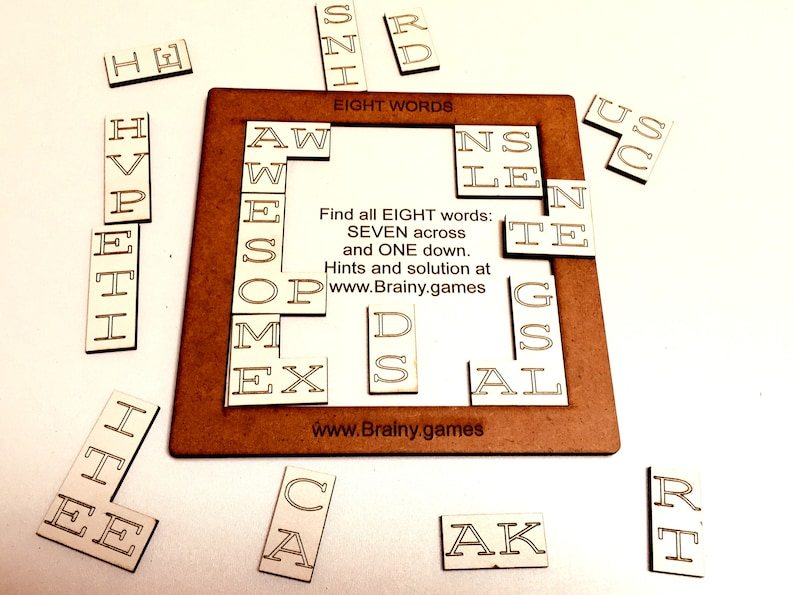 Word Puzzle Brainteaser  Words in Trays  Coffee Table Games image 0