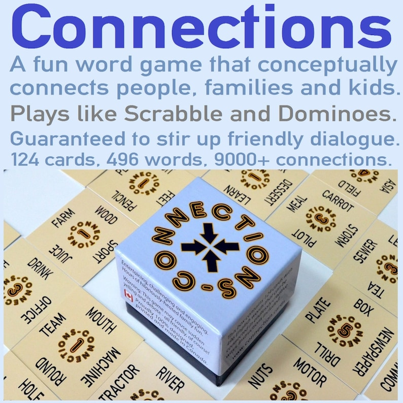Family Word Game   Connections  496 Words  Tabletop Card image 0