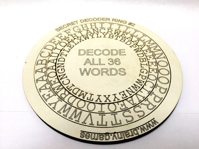 Secret Decoder Rings | Tactile, Laser-Cut Literacy Games | Brainteaser