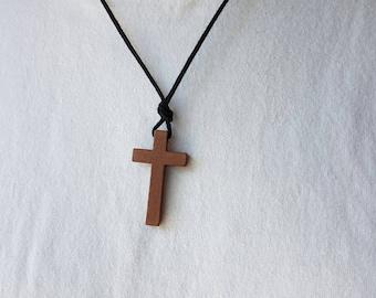 Mens Wooden cross - Mens Cross Necklace - Wood cross - Stunning Wood cross 7514f3bc9a