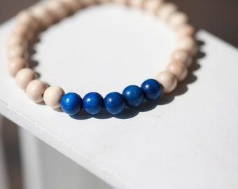 Mens Wood Bar Bracelet - Wooden Bracelet For Men