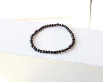 5MM Mens wood Bracelet - Mens Bracelet - Beaded mens Bracelet