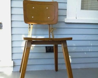 Vintage Kids Chair Metal Wood Desk Chair MidCentury Kids Furniture Photo Prop RhymeswithDaughter