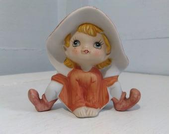 Elf Pixie Figurine Porcelain Collectable Homco 80s Home Decor Memorabilia Knick Knack Gift Idea Photo Prop RhymeswithDaughter