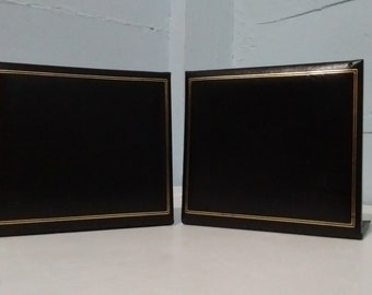 Vintage Bookends MidCentury Black Vinyl 60s Home Decor Office Decor Photo Prop RhymeswithDaughter