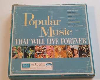 60s Music Records Various Artists Popular Music That Will Live Forever  LP Boxed Set Readers Digest Photo Prop  RhymeswithDaughter