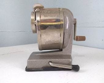 Vintage Manual Boston Pencil Sharpener Vacuum Mount Self Feeding Pencil Sharpener Industrial Home Office Classroom RhymeswithDaughter