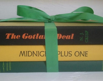 Books The Gotland Deal Midnight Plus One Columbella Vintage Collection Photo Prop Book Shelf Home Decor RhymeswithDaughter