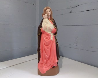 Madonna and Child Mary and Jesus Statue Porcelain Religious Christian Home Decor Photo Prop Gift Idea RhymeswithDaughter