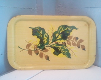Vintage Serving Tray TV Tray Breakfast Tray Decorative Metal Tray Kitchen Decor Farmhouse Rustic Country Photo Prop RhymeswithDaughter