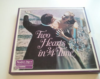 60s Music Records Two Hearts in 3/4 Time Vinyl Boxed Set Readers Digest LP Album Photo Prop RhymeswithDaughter